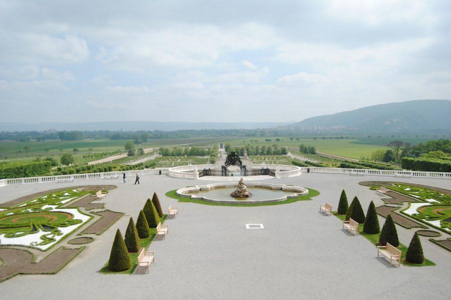 Blick vom Schlossbalkon
